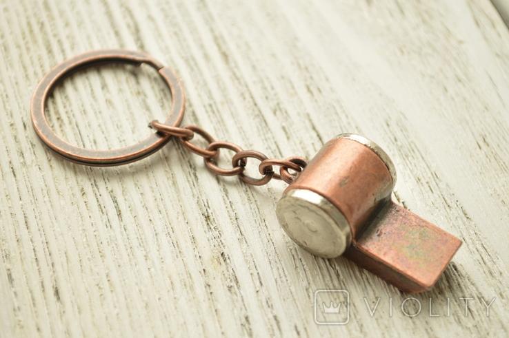 Брелок металлический свисток, фото №3