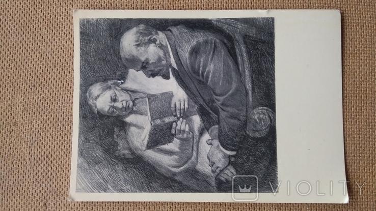 Пара открыток Ленин с М.Горьким и Крупской, фото №6