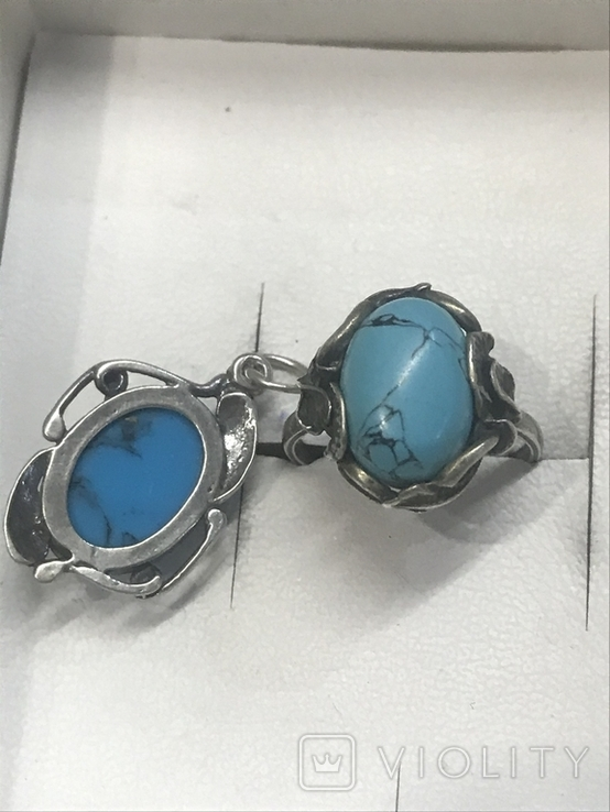 Браслет, кольцо и кулон Серебро, фото №4