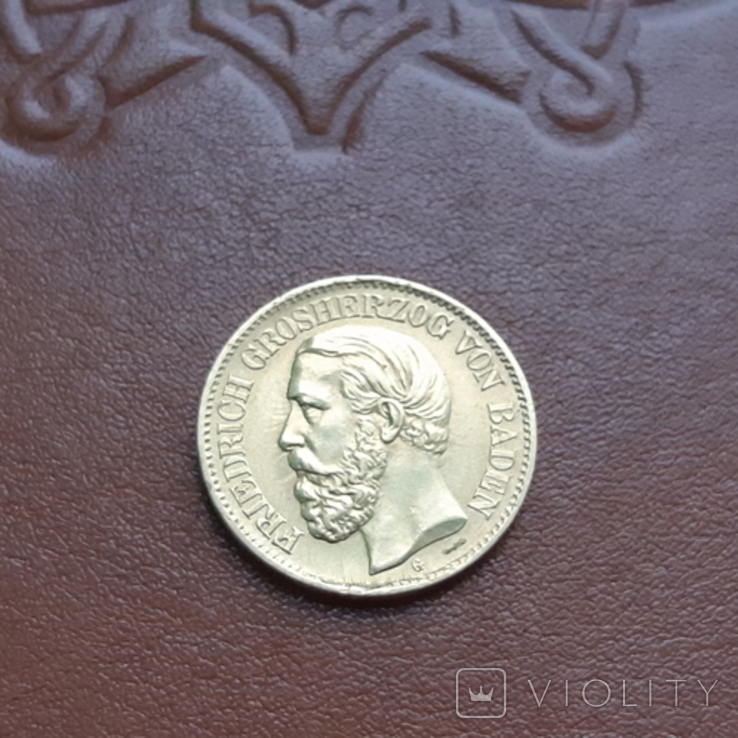 Золото. 10марок 1875 Баден, фото №2