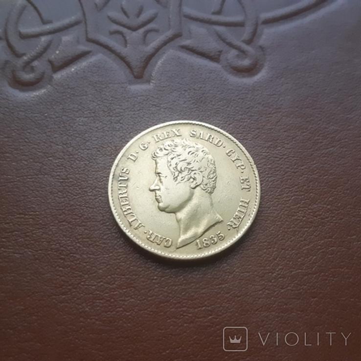 Сардинія20лір лир 1835, фото №4
