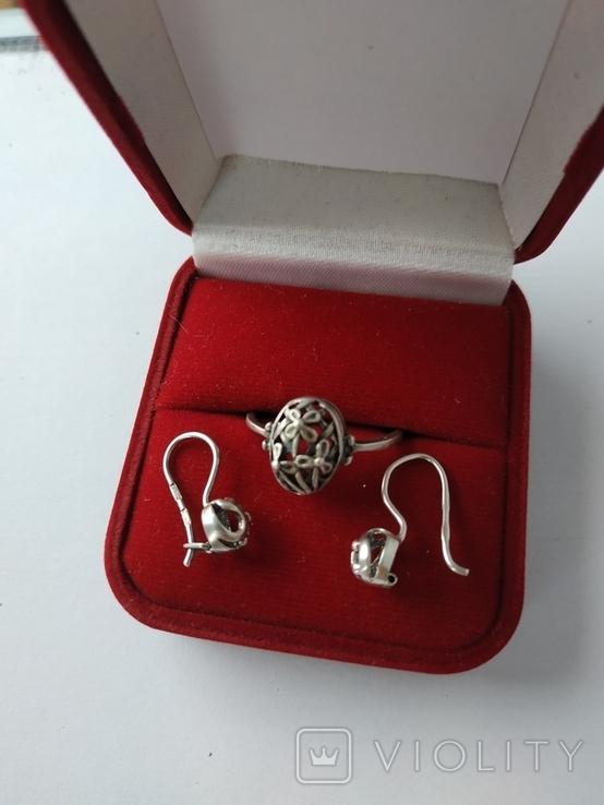 Кольцо и серьги ссср, фото №2
