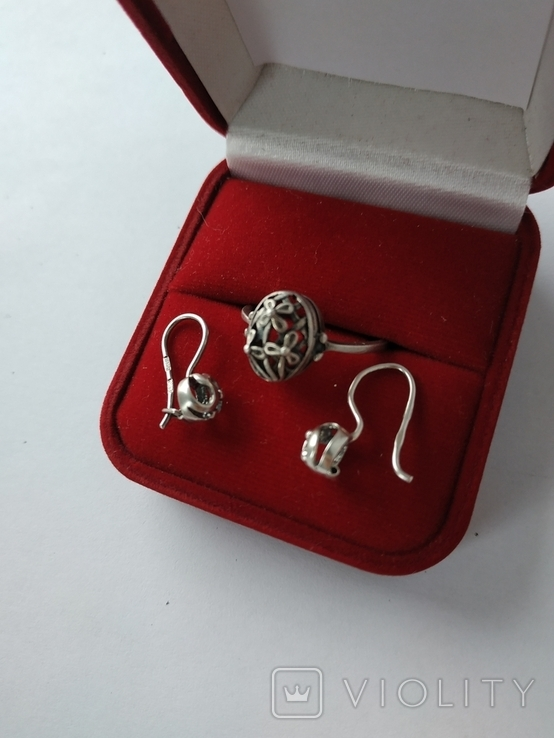 Кольцо и серьги ссср, фото №5