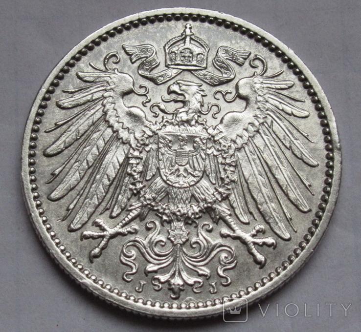 1 марка 1915 г. (J) Германия, серебро, фото №5