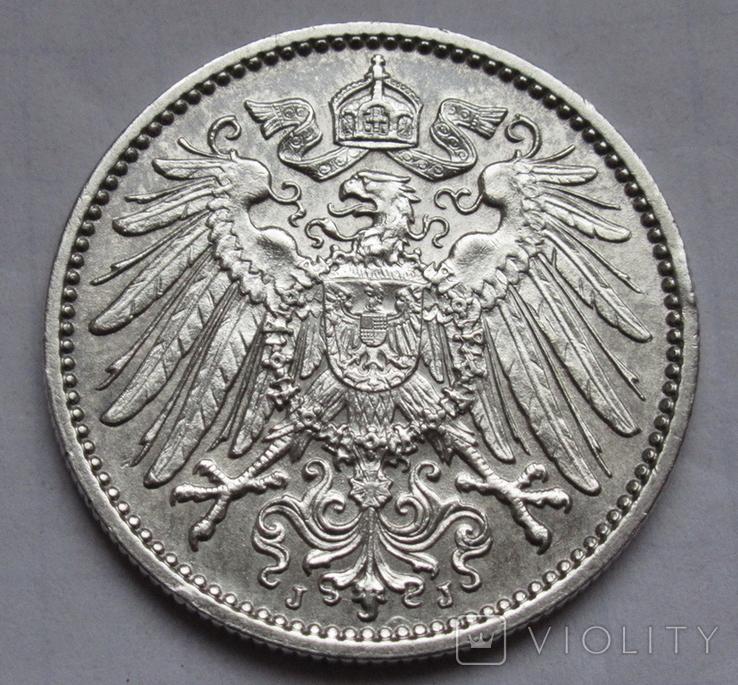 1 марка 1915 г. (J) Германия, серебро, фото №7