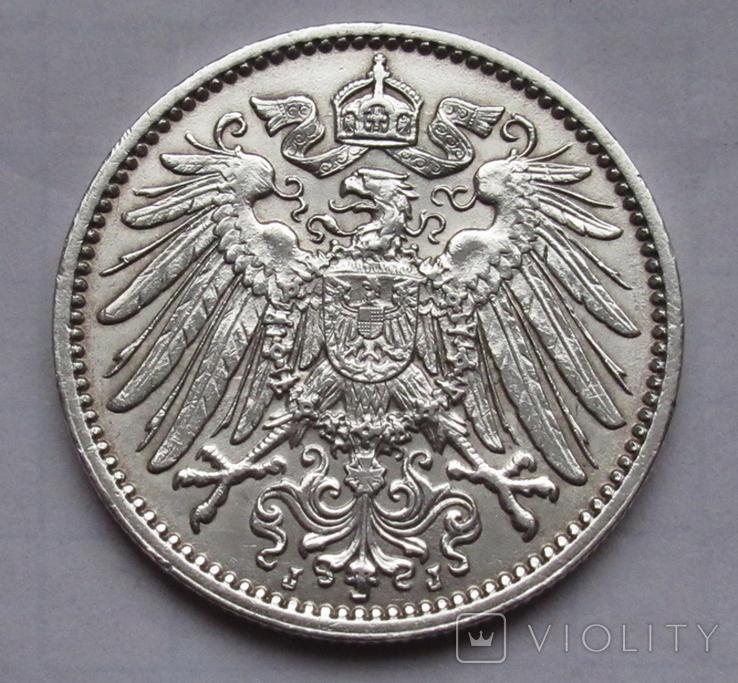 1 марка 1914 г. (J) Германия, серебро, фото №8