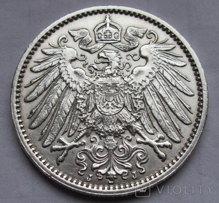 1 марка 1914 г. (J) Германия, серебро, фото №13