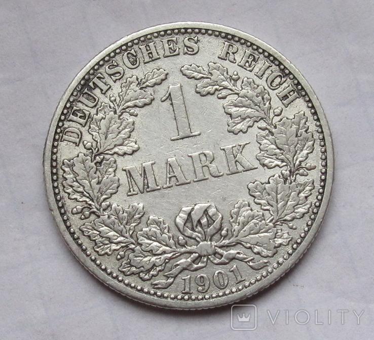 1 марка 1901 г. (F) Германия, серебро, фото №4