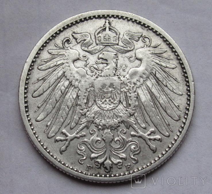 1 марка 1901 г. (F) Германия, серебро, фото №8