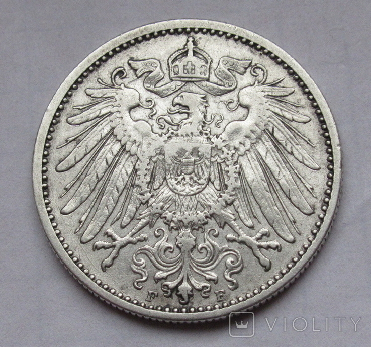 1 марка 1901 г. (F) Германия, серебро, фото №11