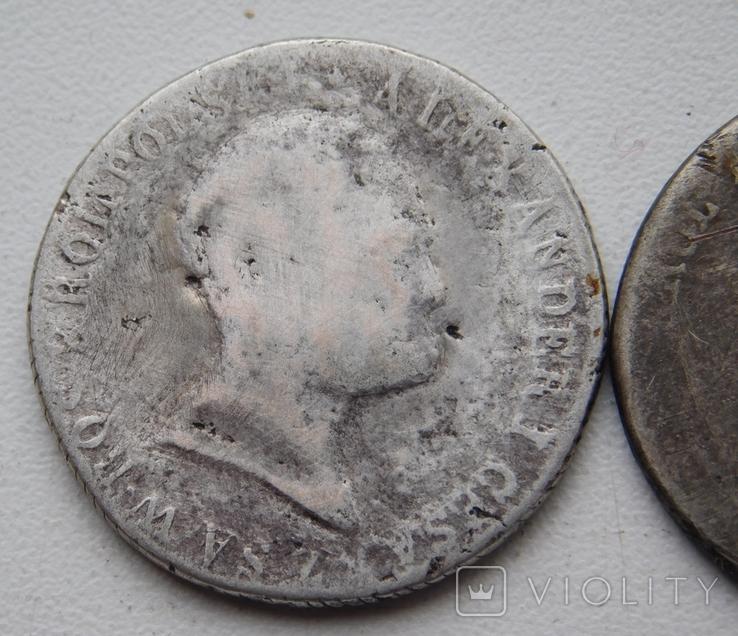 2 шт. по 2 злотых 1816 и 1820, фото №3