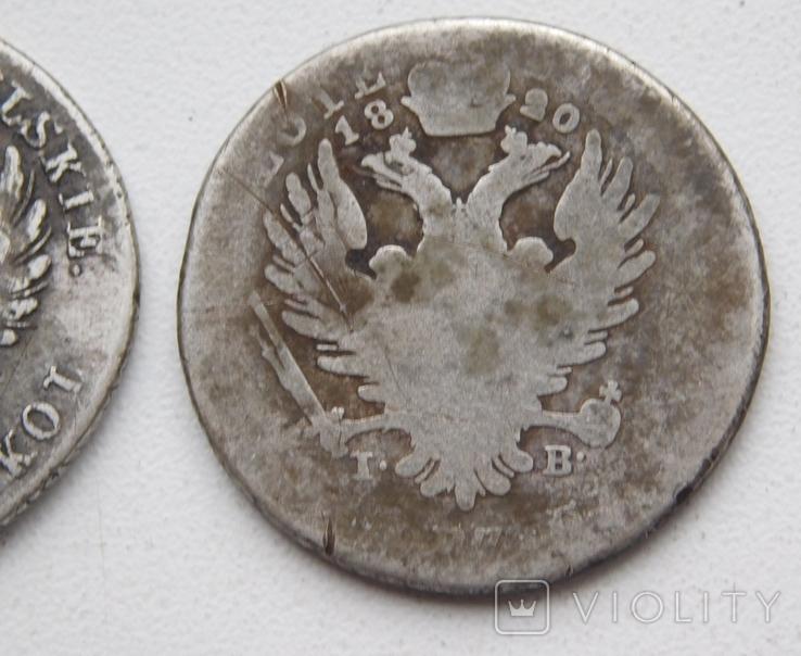 2 шт. по 2 злотых 1816 и 1820, фото №7