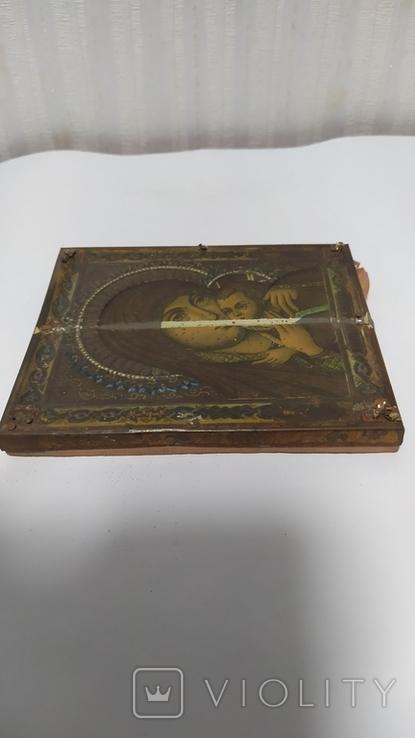 Икона. Божья Мать. 13,5 на 11 см., фото №5
