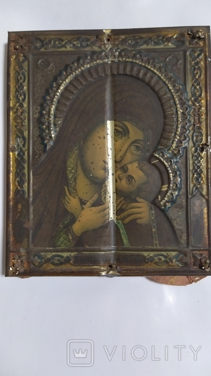 Икона. Божья Мать. 13,5 на 11 см., фото №9