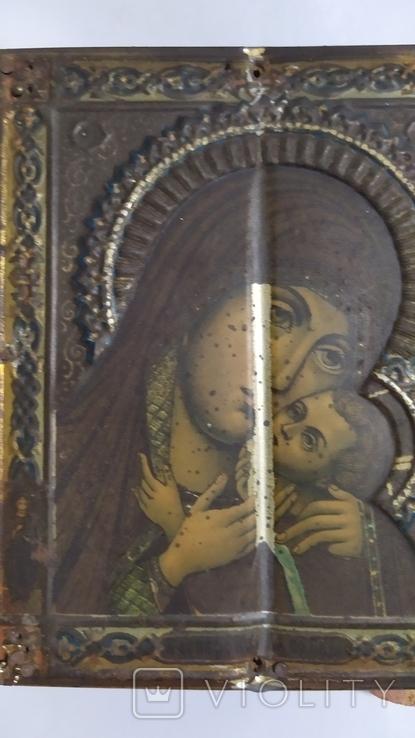 Икона. Божья Мать. 13,5 на 11 см., фото №10