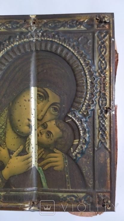 Икона. Божья Мать. 13,5 на 11 см., фото №11