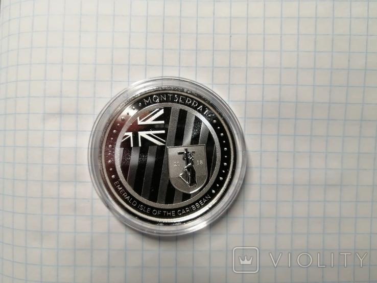 Монтсеррат - 2 доллара EC8 Изумрудный остров - 1 унция серебра, фото №3