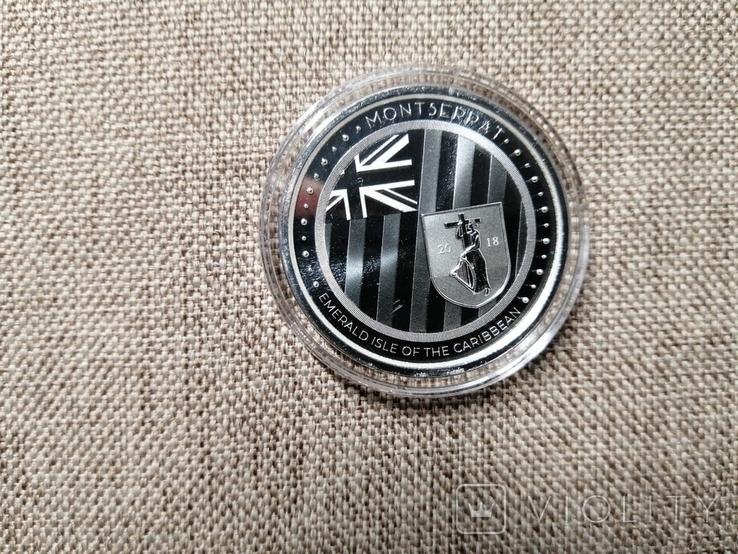 Монтсеррат - 2 доллара EC8 Изумрудный остров - 1 унция серебра, фото №6