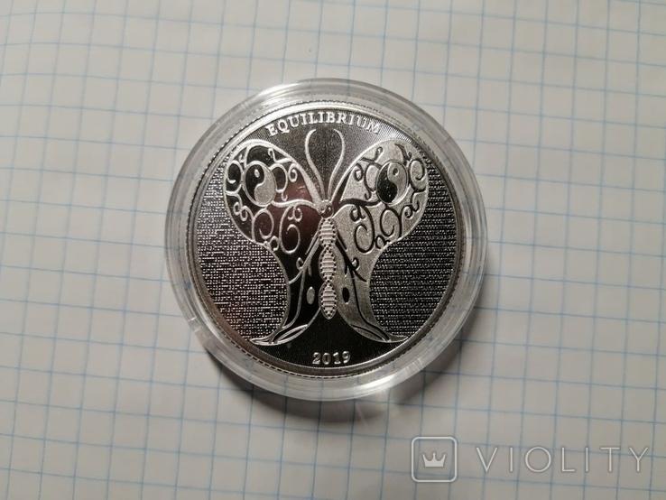 Токелау - Равновесие 5 новозеландских долларов 2019 - 1 унция серебра, фото №2