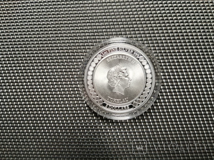 Токелау - Равновесие 5 новозеландских долларов 2019 - 1 унция серебра, фото №4
