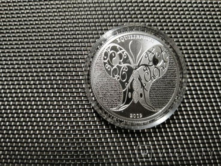 Токелау - Равновесие 5 новозеландских долларов 2019 - 1 унция серебра, фото №5