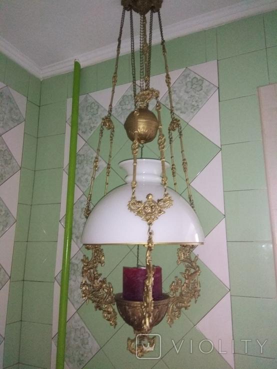 Потолочная керосиновая лампа., фото №2