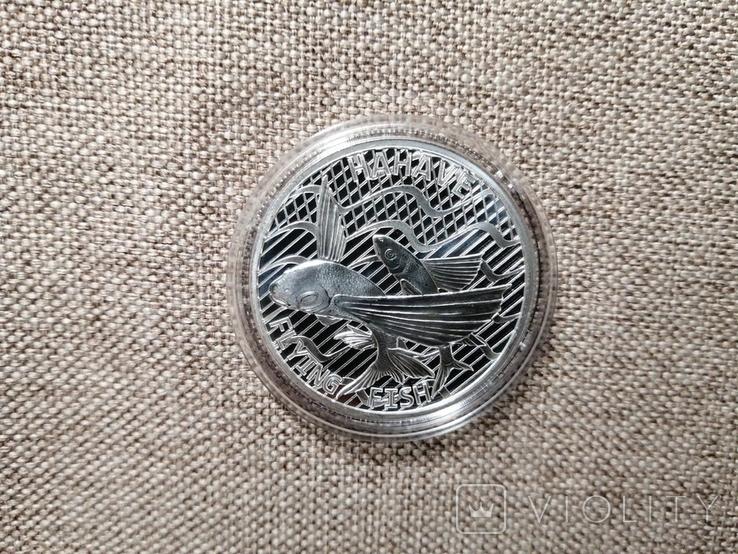 Токелау - 5 новозеландских долларов Flying Fish (Hahave) 2020-1 унция серебра, фото №4