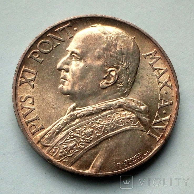 Ватикан 10 лир 1937 г. - Папа Пий XI