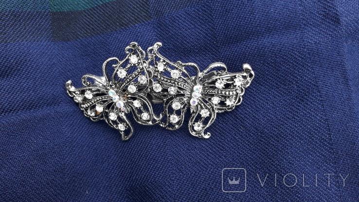 Заколка у вигляді метеликів, фото №2