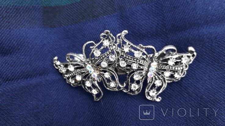 Заколка у вигляді метеликів, фото №3
