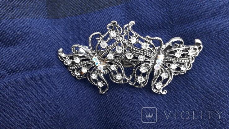 Заколка у вигляді метеликів, фото №4