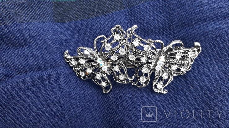 Заколка у вигляді метеликів, фото №5