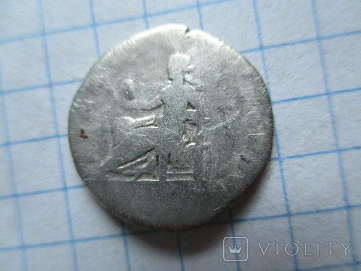 Денарий Веспасиан с меткой, фото №4