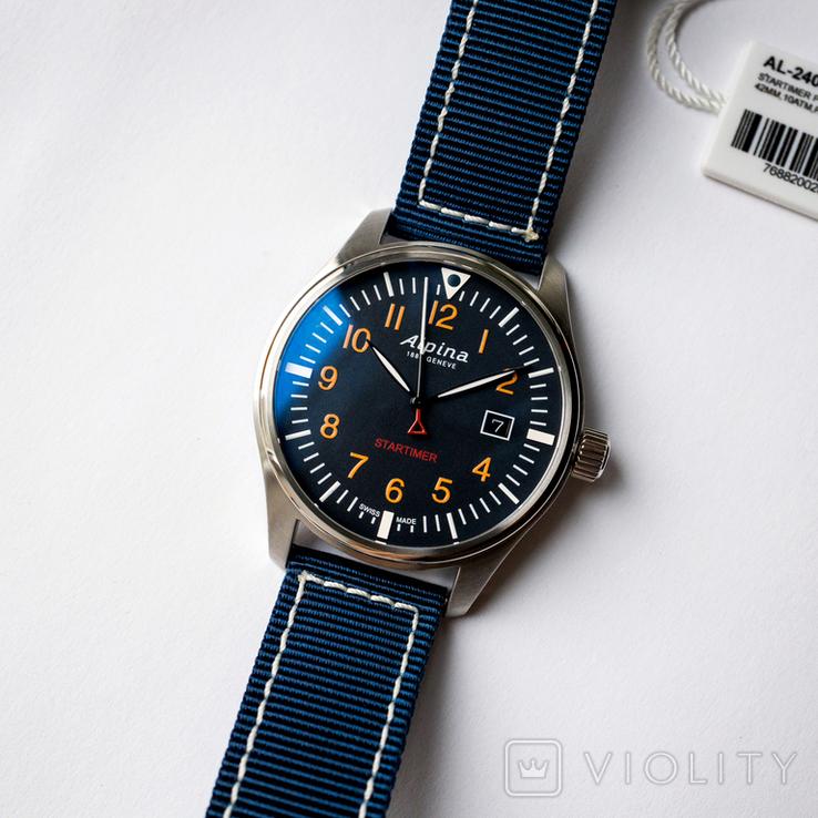 Часы мужские Alpina Startimer Pilot - Швейцария, новые, фото №2