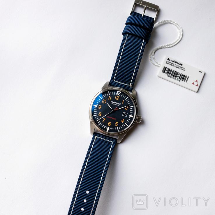 Часы мужские Alpina Startimer Pilot - Швейцария, новые, фото №3