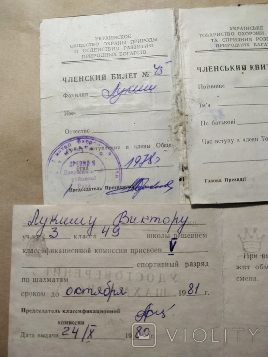 4шт доки удостоверения шахматиста,комсомольский билет, фото №4