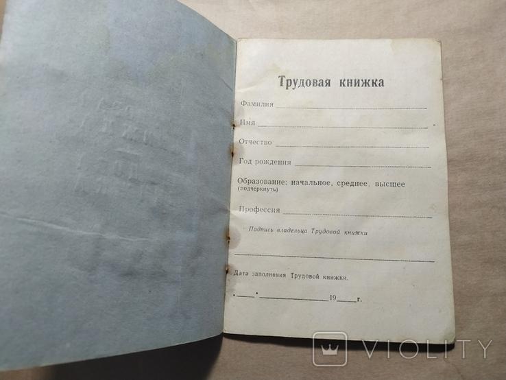 Док чистый трудовая книжка СССР, фото №3