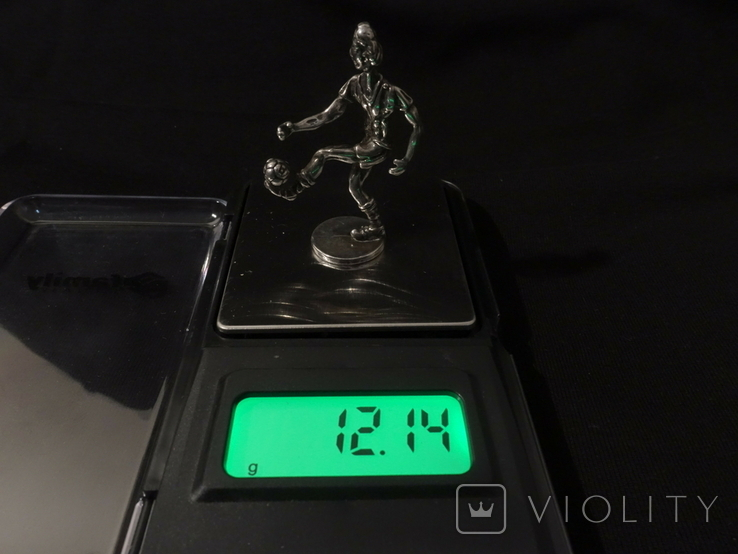 Футболист серебро 800 вес 12 гг., высота 5 см., фото №6