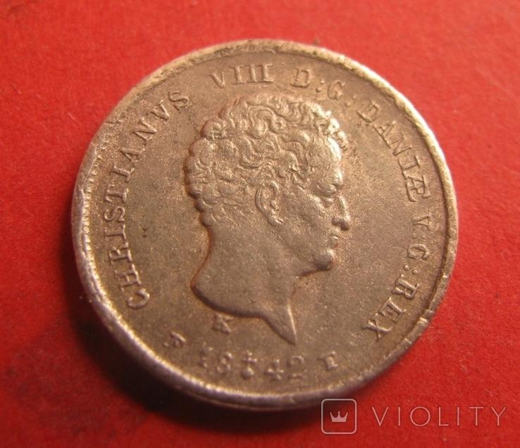 Данія 1/5 скілінга 1842, фото №4
