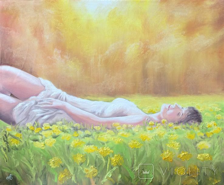 Картина, Насолода Весни, 50х60 см. Живопис на полотні, фото №6