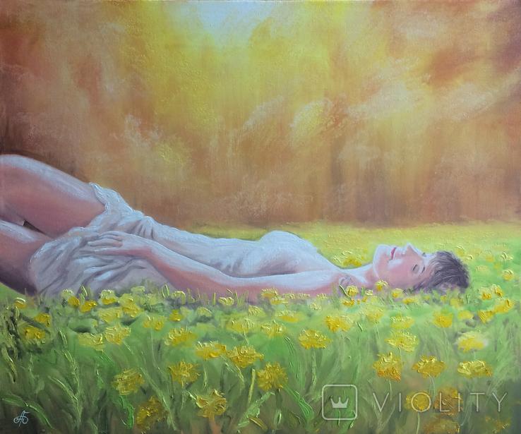 Картина, Насолода Весни, 50х60 см. Живопис на полотні, фото №7
