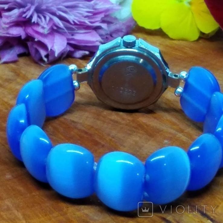 """Часы наручные женские """"Луч"""" с браслетом из"""" улексита"""", фото №7"""