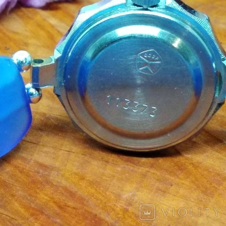 """Часы наручные женские """"Луч"""" с браслетом из"""" улексита"""", фото №8"""