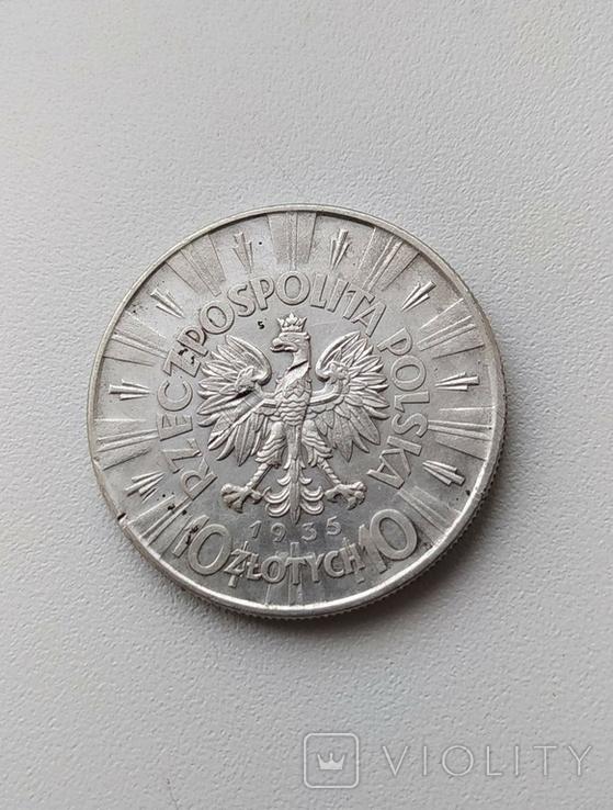 10 злотих 1935, фото №3