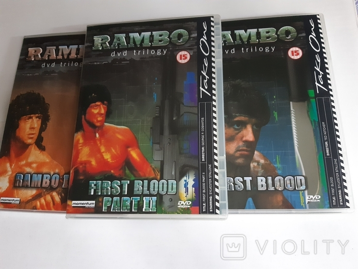 RAMBO dvd trilogy Box Set, фото №6