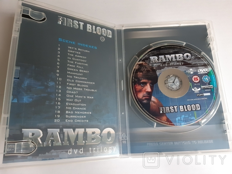RAMBO dvd trilogy Box Set, фото №10