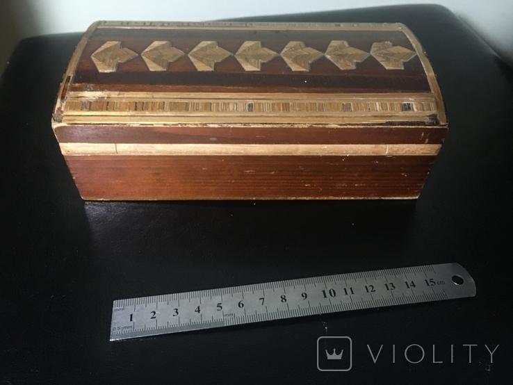 Деревянная шкатулка с шпоном, фото №2