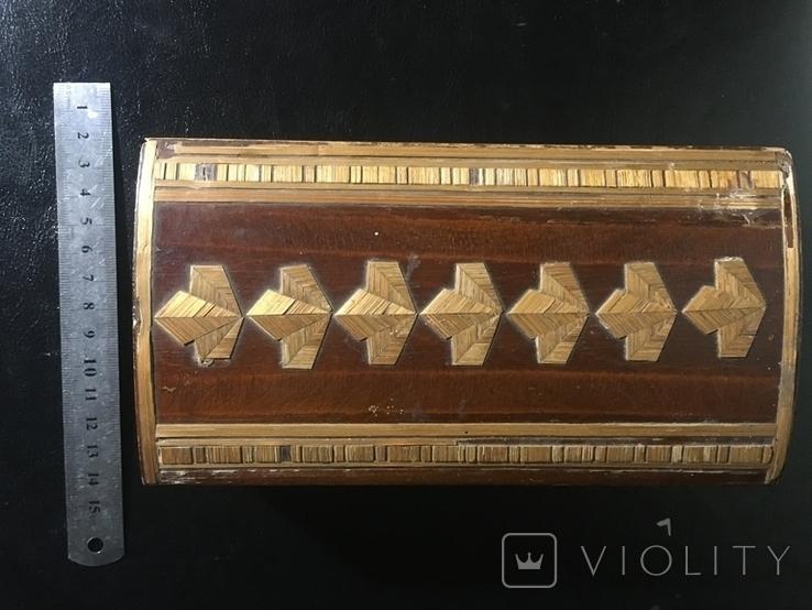 Деревянная шкатулка с шпоном, фото №6