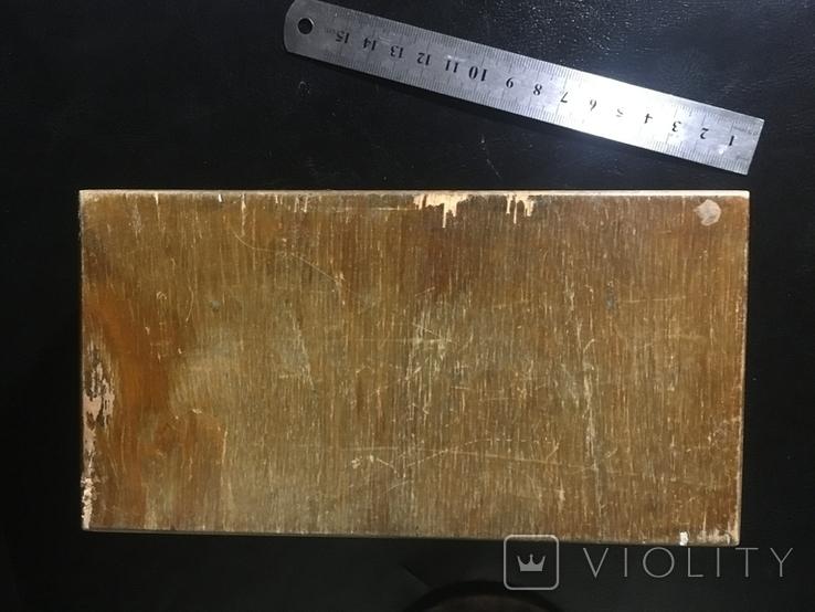 Деревянная шкатулка с шпоном, фото №8