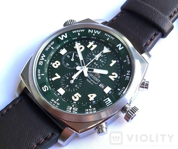 Orient FTT17004F0. Хронограф с компасом. Новые., фото №2